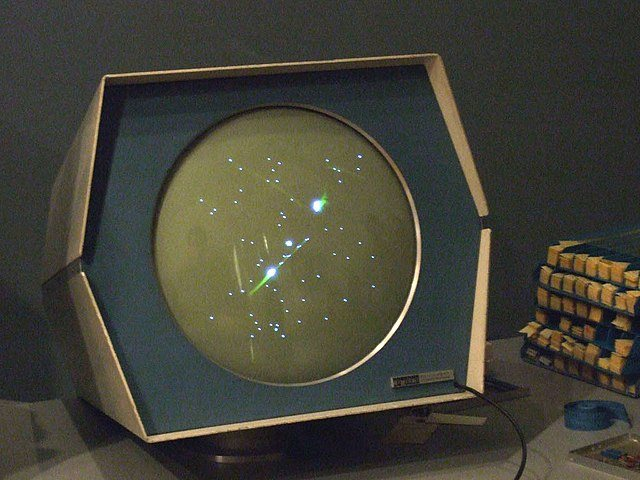 Spacewar - classic video game on an old PDP1